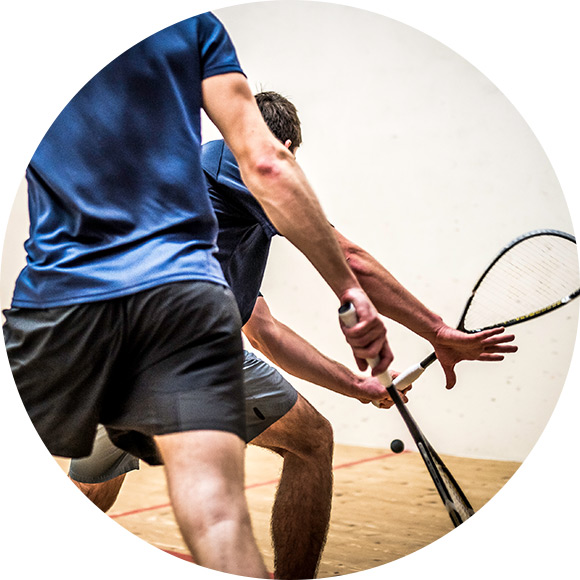 Men playing tennis to promote Much Ado About Insurance Brokers - Leisure Insurance