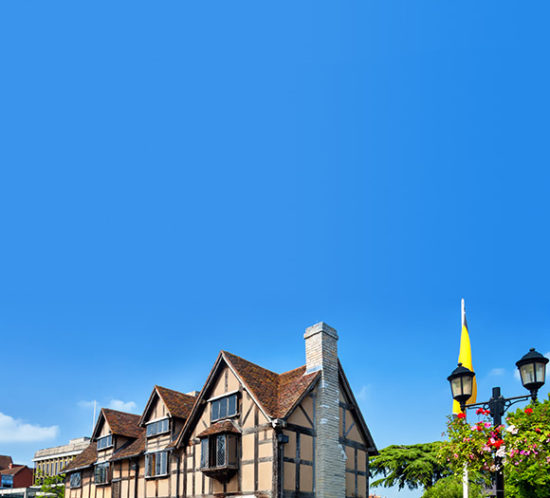 Tops of homes in Stratford Upon Avon to promote Much Ado About Insurance Brokers - Home and Property Insurance