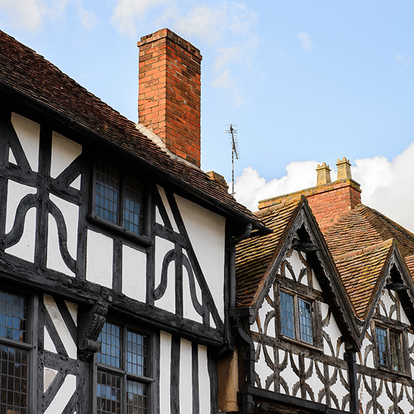 Tudor homes in Stratford Upon Avon to promote Much Ado About Insurance Brokers